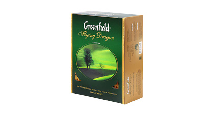 Žalioji arbata GREENFIELD FLYING DRAGON, 1 dėž. (100 pak. x 2 g)